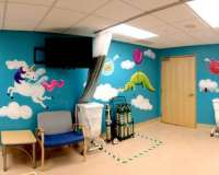 Whimsical Sky- Children's Hospital Mural