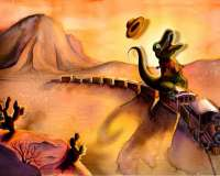 T-Rex Learns to Ride Yee-Haw