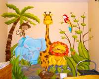 Kids Room Jungle Mural